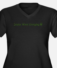 Smoke Weed Everyday Kush Women's Plus Size V-Neck