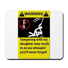 Warning Never tampering with Mousepad
