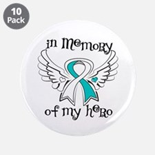 """In Memory Cervical Cancer 3.5"""" Button (10 pack)"""