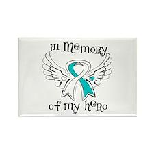 In Memory Cervical Cancer Rectangle Magnet