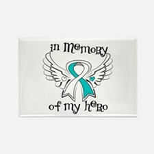 In Memory Cervical Cancer Rectangle Magnet
