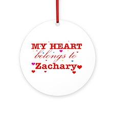 I love Zachary Ornament (Round)