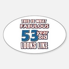Cool 53 year old birthday designs Decal