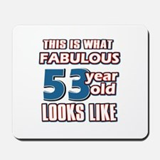 Cool 53 year old birthday designs Mousepad