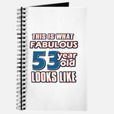 Cool 53 year old birthday designs Journal