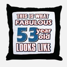 Cool 53 year old birthday designs Throw Pillow