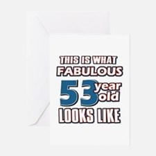 Cool 53 year old birthday designs Greeting Card