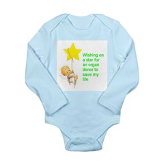 Long Sleeve Infant Bodysuit wishing for a donor