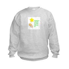 Sweatshirt wishing on a star for a donor
