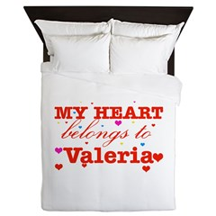 I love Valeria Queen Duvet