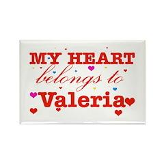 I love Valeria Rectangle Magnet
