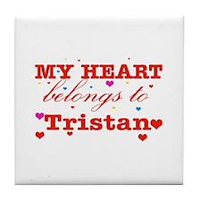 I love Tristan Tile Coaster