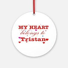 I love Tristan Ornament (Round)