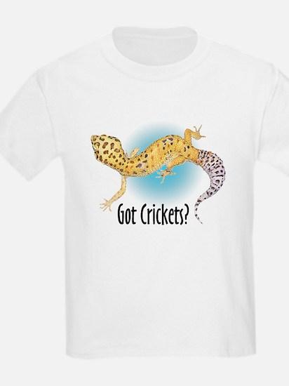 Gecko Got Crickets Kids T-Shirt