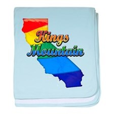 Kings Mountain, California. Gay Pride baby blanket