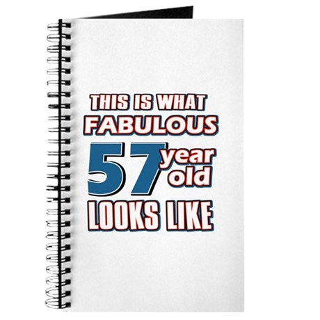 Cool 57 year old birthday designs Journal