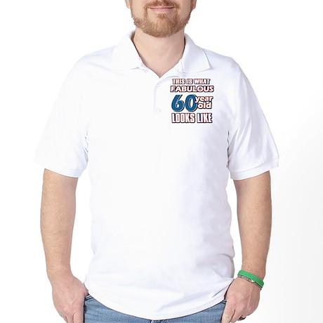 Cool 60 year old birthday designs Golf Shirt