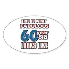Cool 60 year old birthday designs Decal