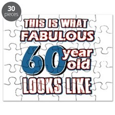 Cool 60 year old birthday designs Puzzle