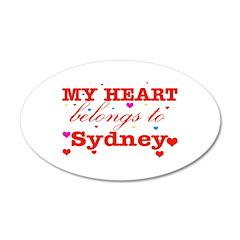 I love Sydney 38.5 x 24.5 Oval Wall Peel