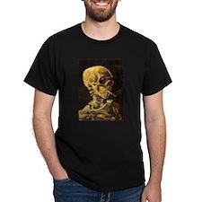Van Gogh Skeleton Smoking Cigarette T-Shirt