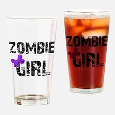 Zombie Girl Drinking Glass