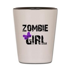 Zombie Girl Shot Glass