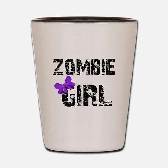 Zombie Girl Shot Glass