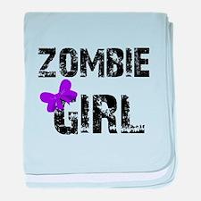 Zombie Girl baby blanket
