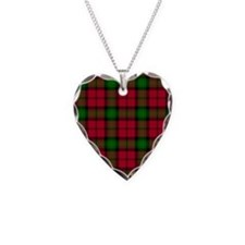 Tartan - Kerr Necklace Heart Charm
