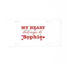 I love Sophie Aluminum License Plate