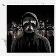 Gangsta raccoon Shower Curtain