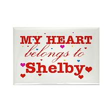 I love Shelby Rectangle Magnet
