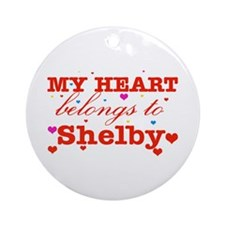I love Shelby Ornament (Round)