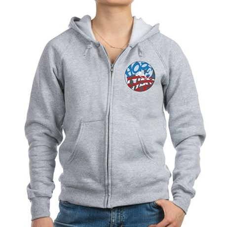 Support Obama's Hope and Change Women's Zip Hoodie