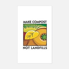 Make Compost, Not Landfills Rectangle Decal