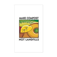 Make Compost, Not Landfills Rectangle Stickers