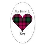 Heart - Kerr Sticker (Oval 10 pk)