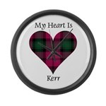 Heart - Kerr Large Wall Clock