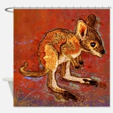 Kangaroo Joey Shower Curtain