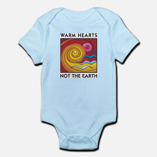 Warm Hearts, Not the Earth Infant Creeper