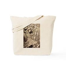 Arthur Rackham Alice In Wonderland Tote Bag