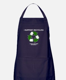 I support Recycling Apron (dark)
