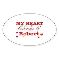 I love Robert Sticker (Oval)