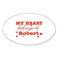 I love Robert Sticker (Oval 50 pk)