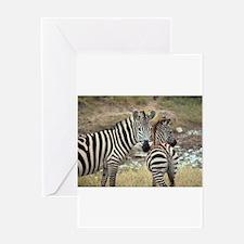 Z-zebras Greeting Card