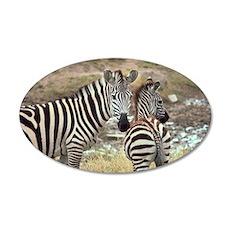 Z-zebras 22x14 Oval Wall Peel