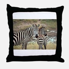 Z-zebras Throw Pillow