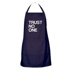Trust No One Apron (dark)