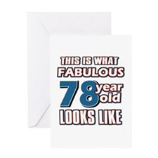 Cool 78 year old birthday designs Greeting Card